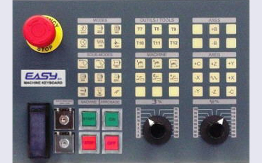 EASYsa - MC-KB290W: customizable operator panel for machines-tools